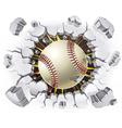 Baseball and old plaster wall damage vector | Price: 1 Credit (USD $1)