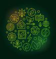 bioenergy circular green vector image vector image