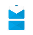 blue envelope vector image vector image