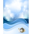 Blue snowdrift and Christmas balls vector image vector image