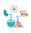 book molecule test tubes science vector image vector image