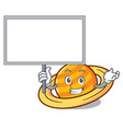 bring board planet saturnus character cartoon vector image