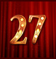 celebrating 27 years anniversary vector image vector image