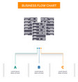 center centre data database server business flow vector image vector image