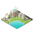 Colored Factory Territory Isometric vector image vector image