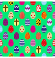 colorful Easter eggs design seamless pattern eps10 vector image