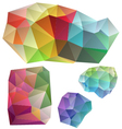 colorful geometric design elements vector image vector image