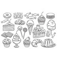 confectionery and sweets icons vector image vector image