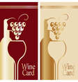 Cover for wine card Gold and red vector image vector image