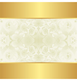 creamy and gold background vector image vector image