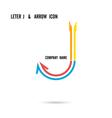 Creative letter J icon logo design vector image vector image