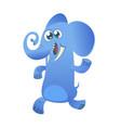 Cute cartoon blue elephant icon