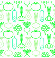 decorative seamless background vegan organic vector image