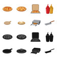 design pizza and food icon set pizza vector image vector image