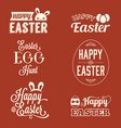 easter typographic vector image vector image