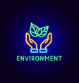 environment neon label vector image vector image