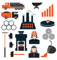 flat design icons of metallurgy industry vector image