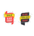 flat linear bubble black friday sale banners vector image
