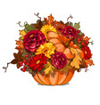 floral arrangement of bright flowers in ripe vector image vector image