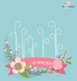 Floral bouquets with ribbon vector image vector image