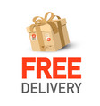 free delivery icon with parcel vector image vector image