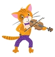 Funny cat plays the violin vector image