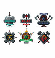 Game emblem set cyber sport team signs