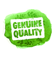 Genuine guality organic eco label vector image
