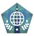 geometric globe icon vector image vector image
