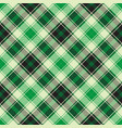 green diagonal plaid seamless pattern vector image