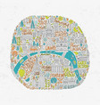 handdrawn paris map vector image vector image