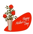 Happy Mother Day with bouquet vector image vector image