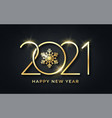 happy new year 2021 new year background vector image