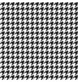 houndstooth plaid pattern vector image vector image