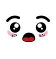 isolated cute kawaii face vector image