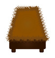 isolated straw cradle vector image vector image