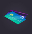 isometric credit card flat vector image vector image