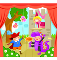 kids on stage vector image