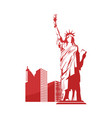 liberty statue icon vector image vector image