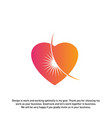 love sun creative logo concepts abstract colorful vector image