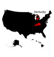 map of the us state of kentucky vector image vector image