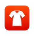 men tennis t-shirt icon digital red vector image vector image