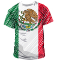 Mexican tee vector image vector image