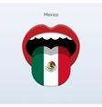 Mexico language Abstract human tongue vector image vector image