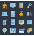 Mobile banking icons vector image
