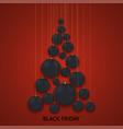 modern black friday holiday invitation card vector image