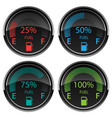 modern electronic digital car gas fuel gauges vector image