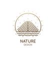 nature linear logo landscape vector image vector image