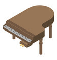 Old grand piano icon isometric style