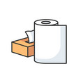 paper products rgb color icon vector image vector image